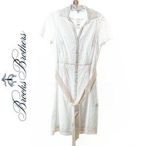Brooks Brothers White Dress Sz 6 NEW WITH TAGS